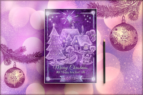 Handmade Retro Christmas Flyer Vol 2