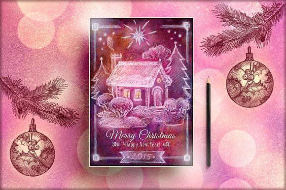 Handmade Retro Christmas Flyer Vol 1