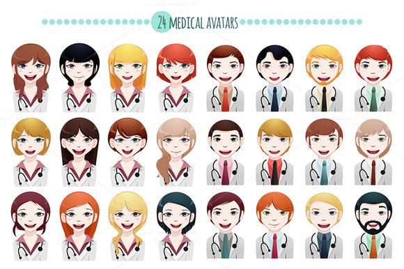 24 X Multi-ethnic Medical Avatar