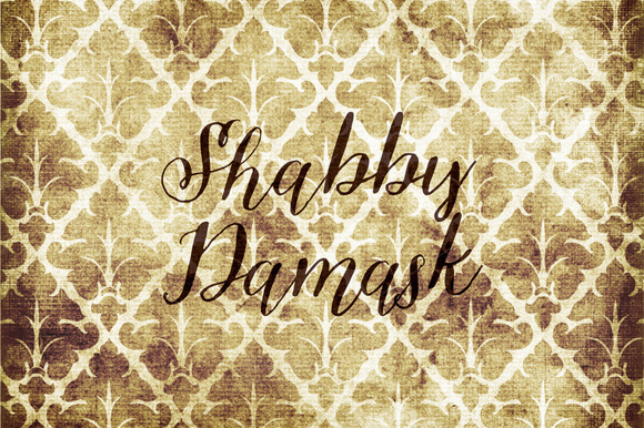 Shabby Damask Digital Paper