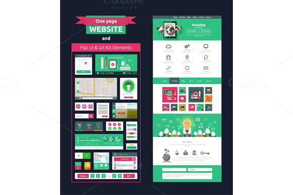 Website Page Template Web Design