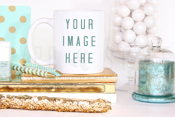Styled Stock Photo Mug Display