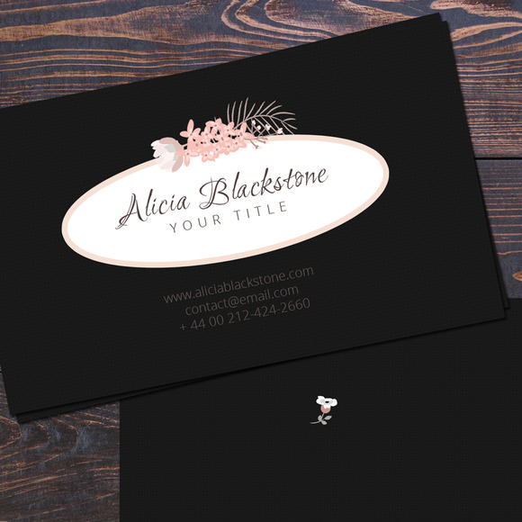 Dark Business Card