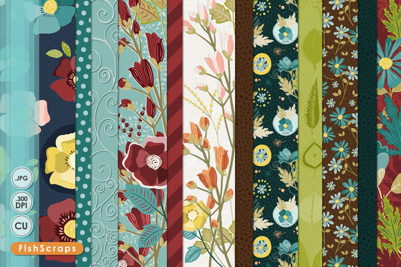 Fall Floral Pattern Backgrounds