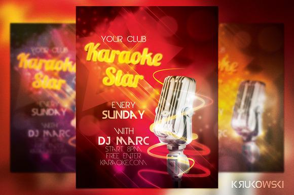 Karaoke Star Flyer