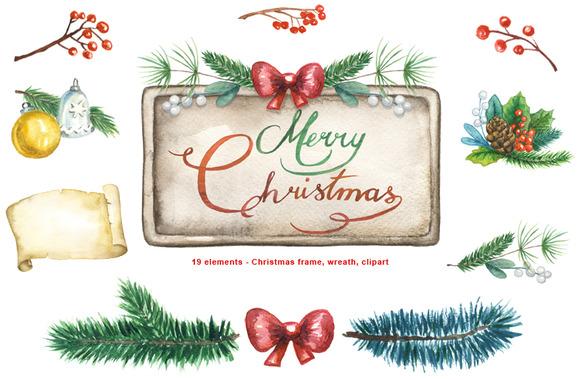 Christmas Frames Wreaths