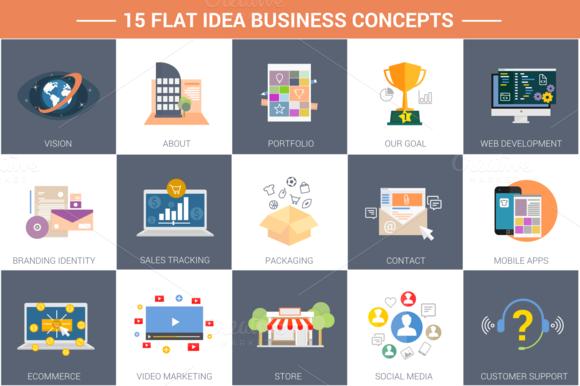 15 Flat Idea Business Concepts