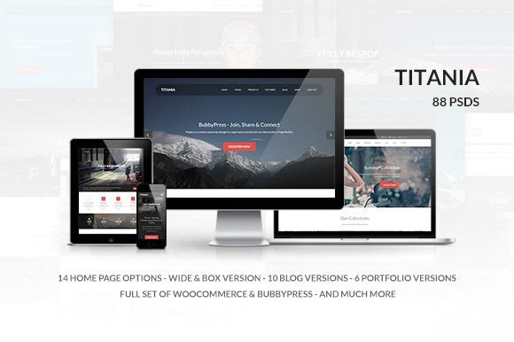 Titania Multipurpose PSD Template