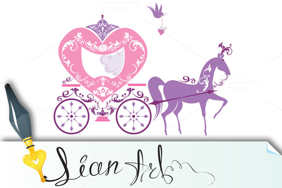Vintage Fairytale Horse Carriage