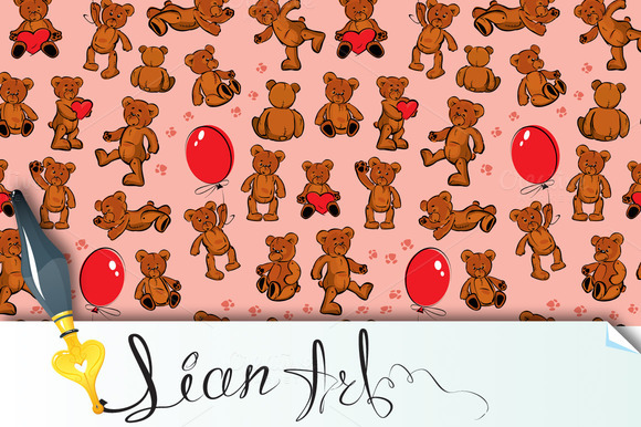 Seamless Texture With Teddy Bears
