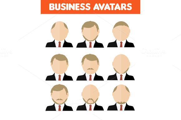 Set Of Business Avatar