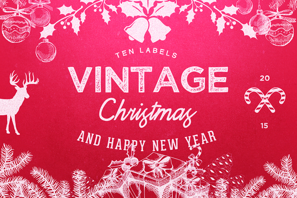 10 Logo Vintage Christmas New Year
