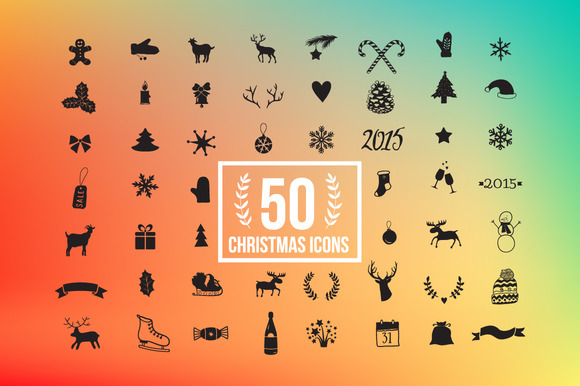 56 Christmas Icon Set