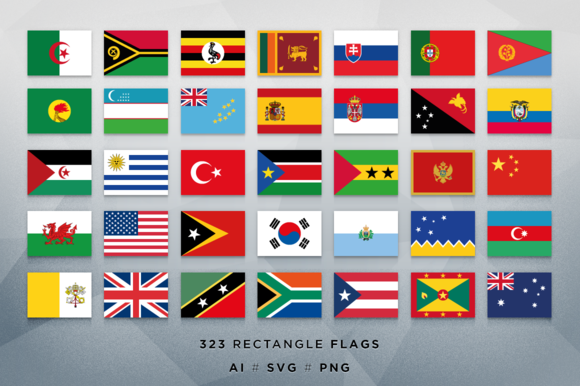 232 Rectangle Vector Flags