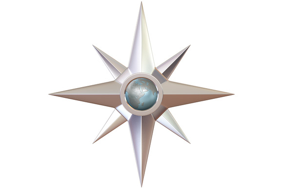 Silver Ancient Compass