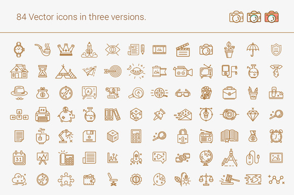 Set Of Line Icons For All Occasions