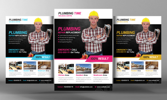 Plumber Service Flyer Template