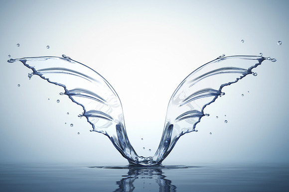 Splash In Form Of Wings