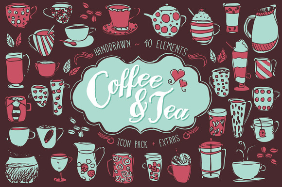 Coffee Tea Icon Pattern Pack