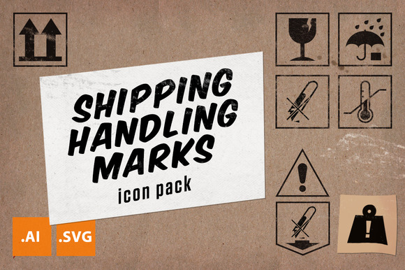 Travel Wise Shipping Labels Icon Set