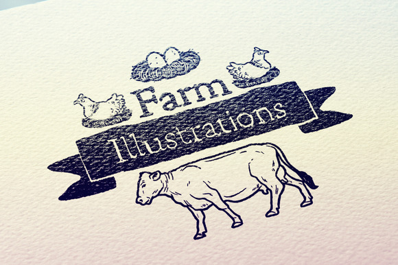 40 Farm Illustrations