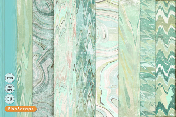 Mint Marble Digital Papers Texture
