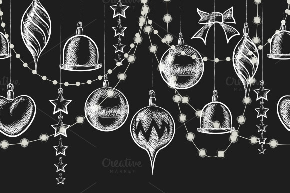 Christmas Chalkboard Ornaments