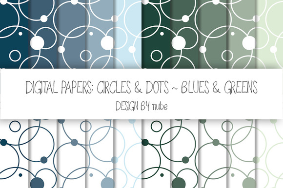 Circles And Dots ~ Seamless Patterns