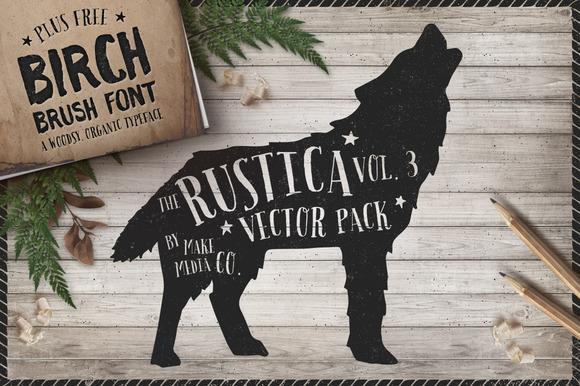 Rustica Vol 3 Birch Brush Font