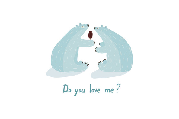 Polar Bears Love And Ice Cream