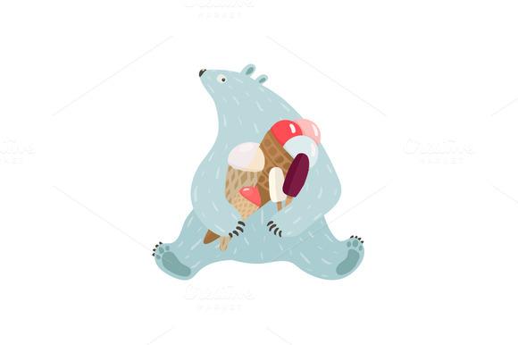 Polar Bear And Ice Cream