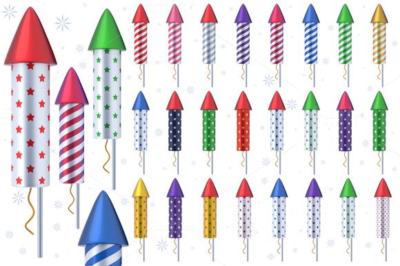 Fireworks Rockets 3D