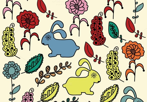 Four Cute Animals Patterns