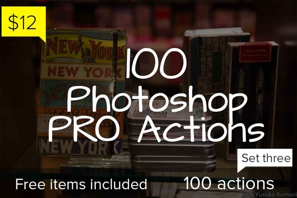 100 Photoshop Pro Actions Set 3