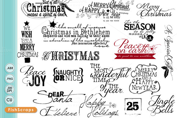 Christmas WordArt Titles Quotes