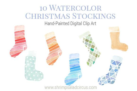 Watercolor Christmas Stockings