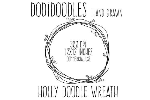 Holly Doodle Wreath