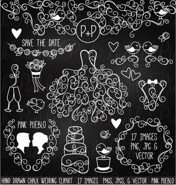 Hand Drawn Chalkboard Wedding