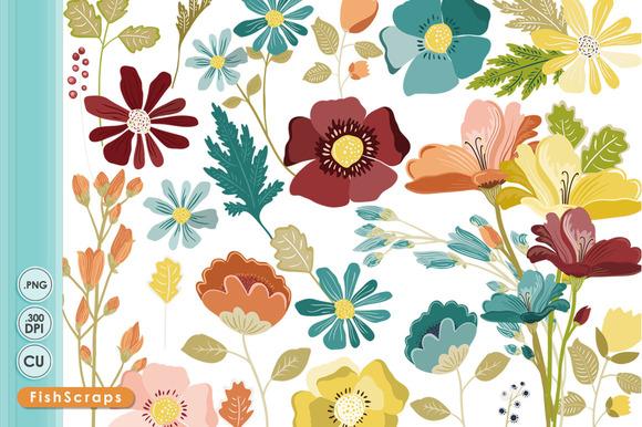 Fall Flowers Clip Art