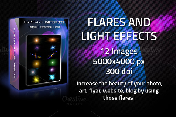 12 Flares And Light Effects