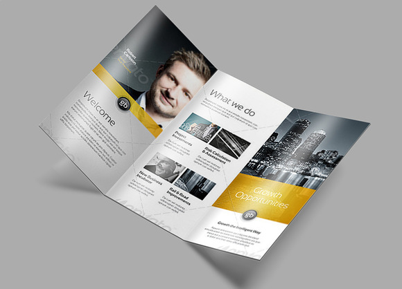 Tri Fold Brochure Mock-Up 2