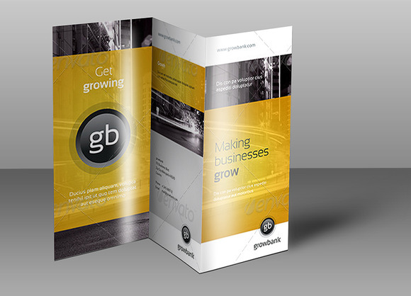 Tri Fold Brochure Mock-Up 3