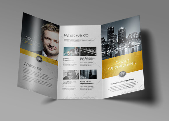Tri Fold Brochure Mock-Up 5