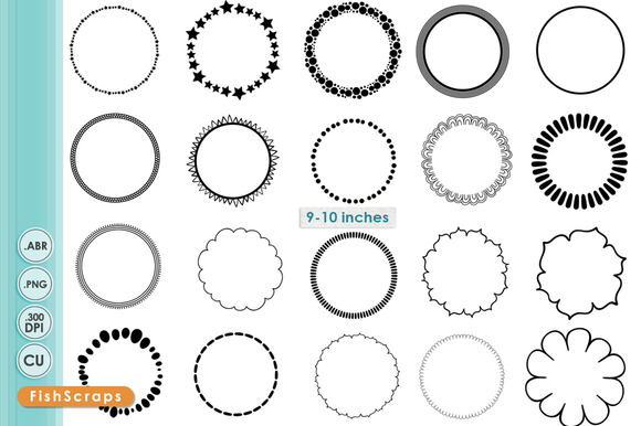Simple Circle PNG Frames Brushes
