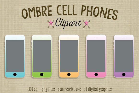 Ombre Cell Phone Clipart