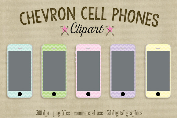 Chevron Cell Phone Clipart