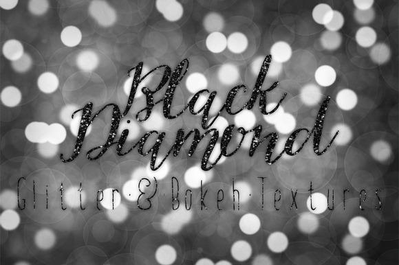 Black Diamond Glitter And Bokeh