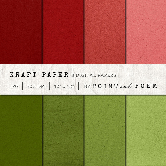 Kraft Paper Texture Pack Christmas
