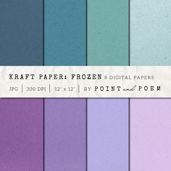 Kraft Paper Texture Pack Winter