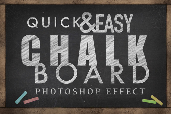 Chalkboard Photoshop Effect EASY